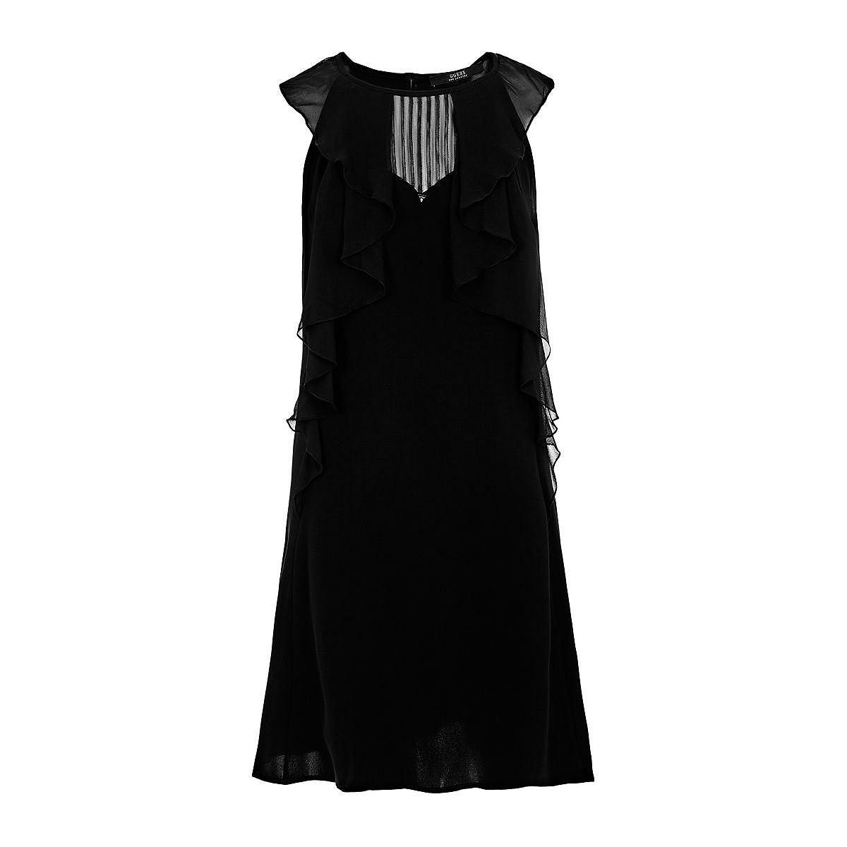 Guess jurk in animal-look en met volants zwart