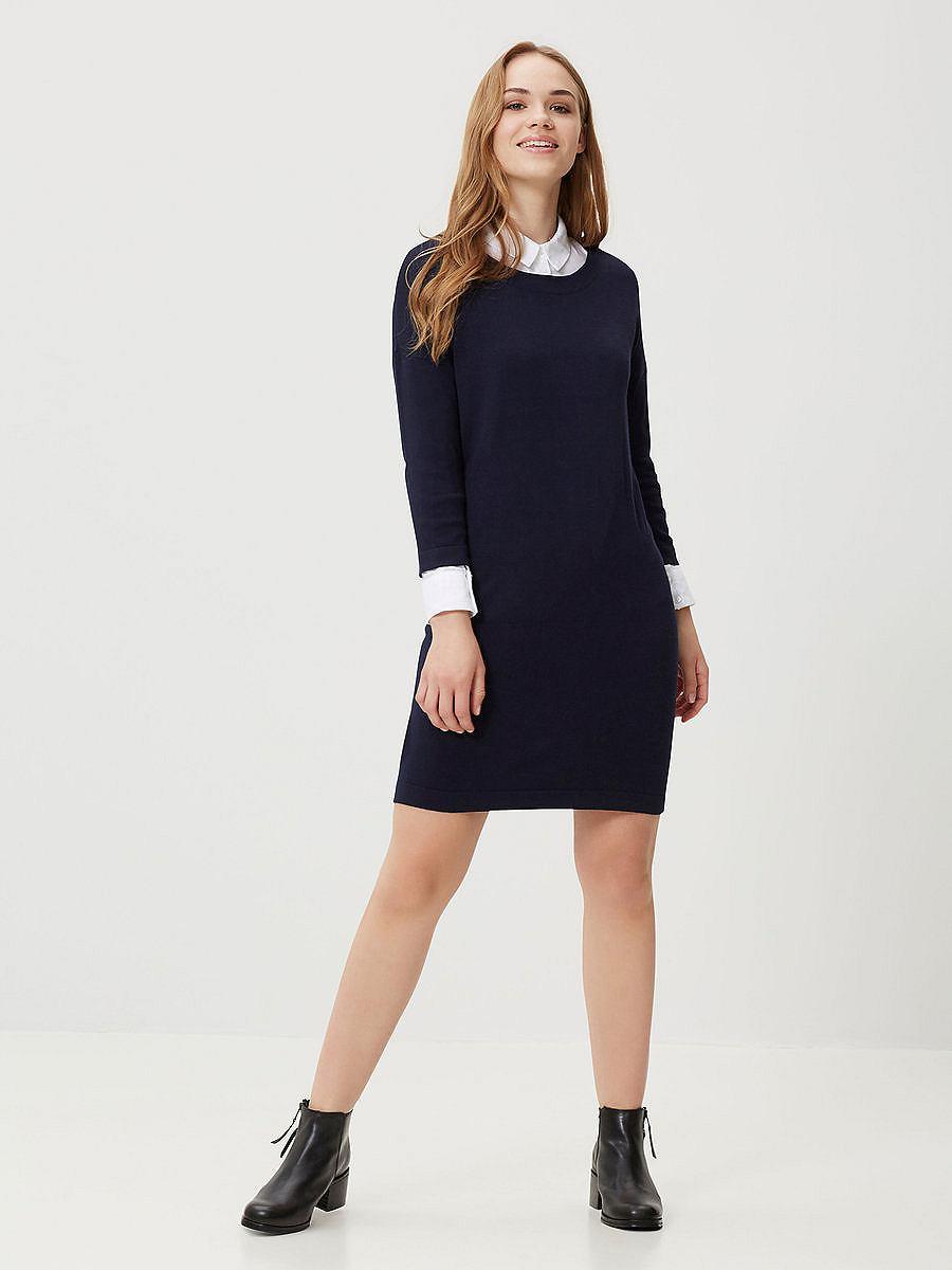 Vero Moda 3/4 mouwen jurk blauw
