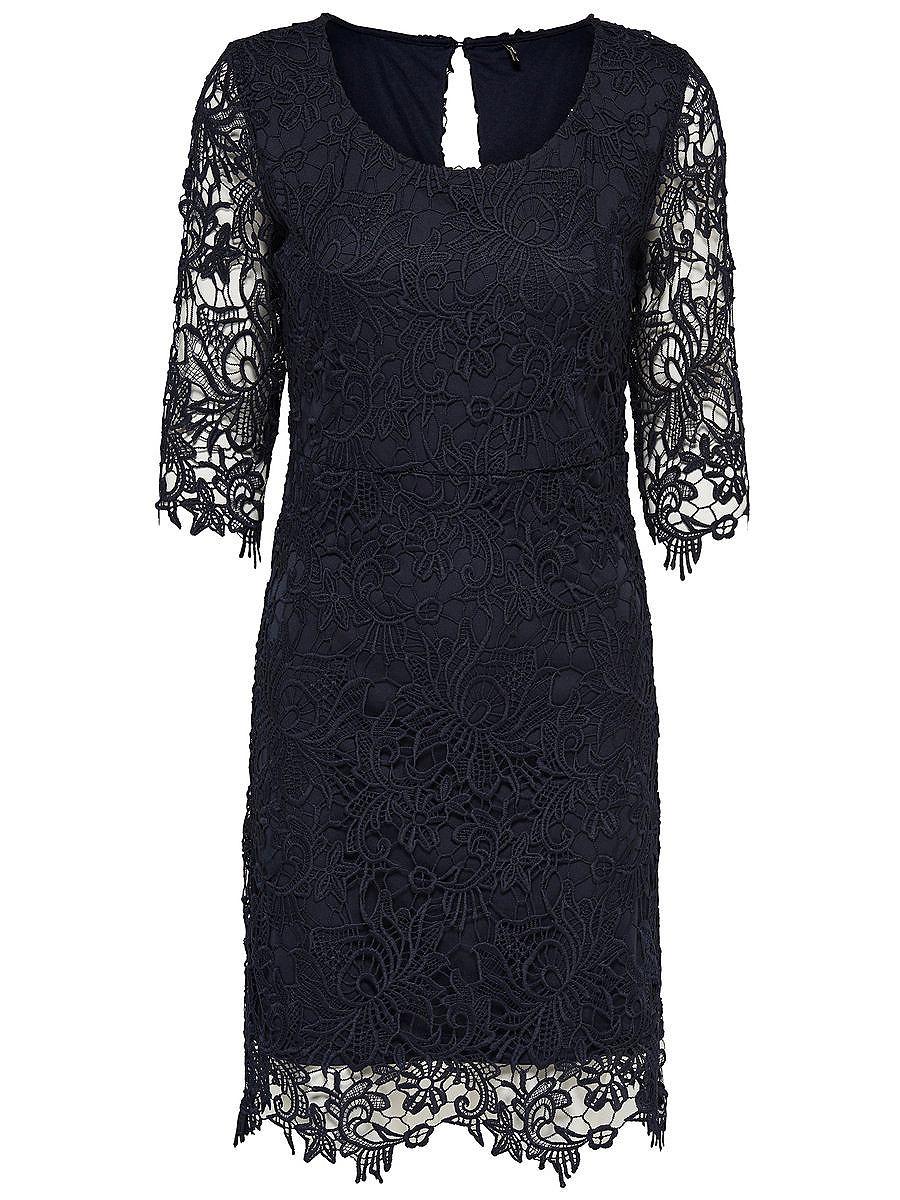 ONLY kanten Korte jurk blauw