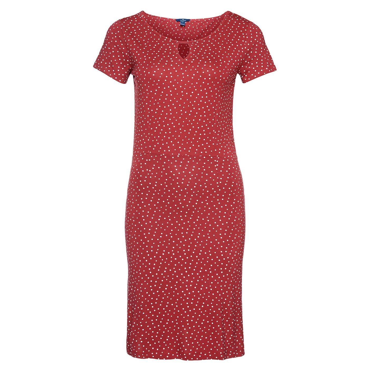 Tom Tailor jurk »Gestippelde jerseyjurk« rood