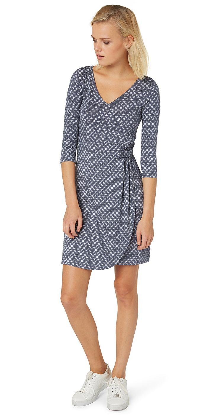 Tom Tailor jurk »jerseyjurk in wikkellook« blauw