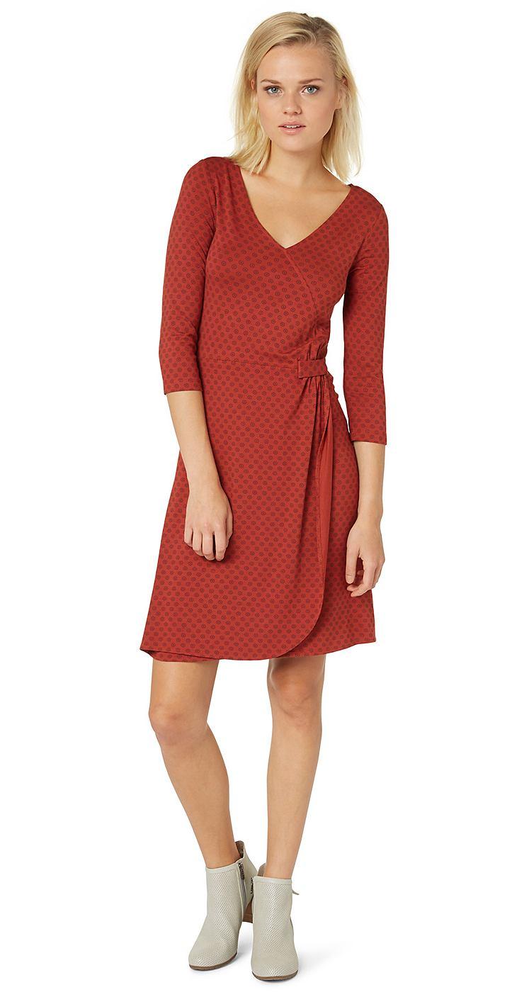 Tom Tailor jurk »jerseyjurk in wikkellook« rood