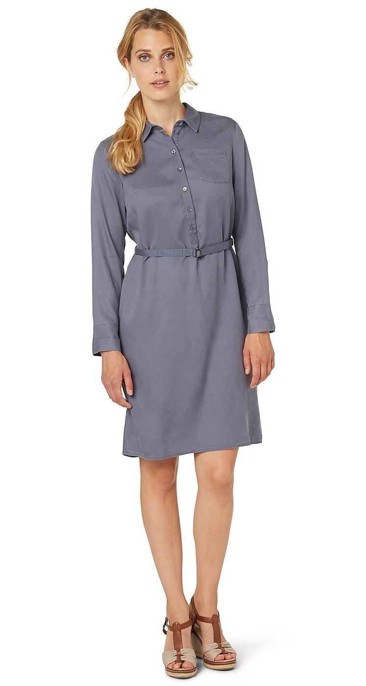 Tom Tailor jurk »modern shirt dress« blauw