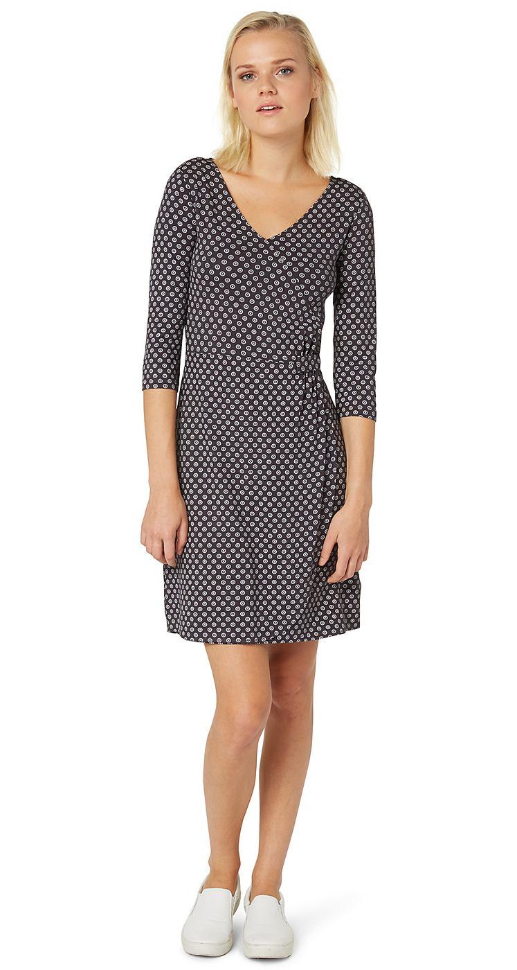 Tom Tailor jurk »jerseyjurk in wikkellook« grijs