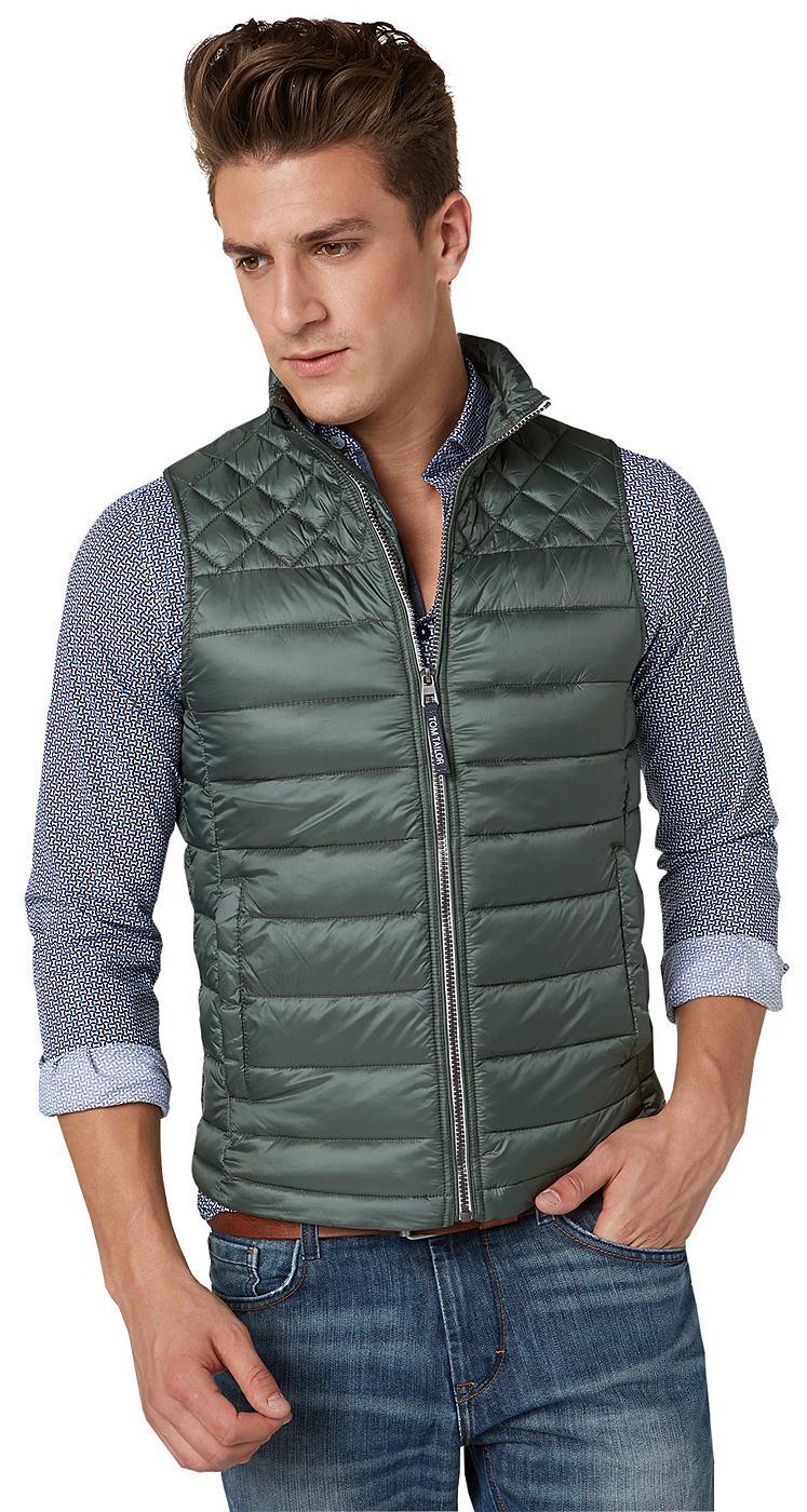 NU 15% KORTING: TOM TAILOR Vest »quilted vest«