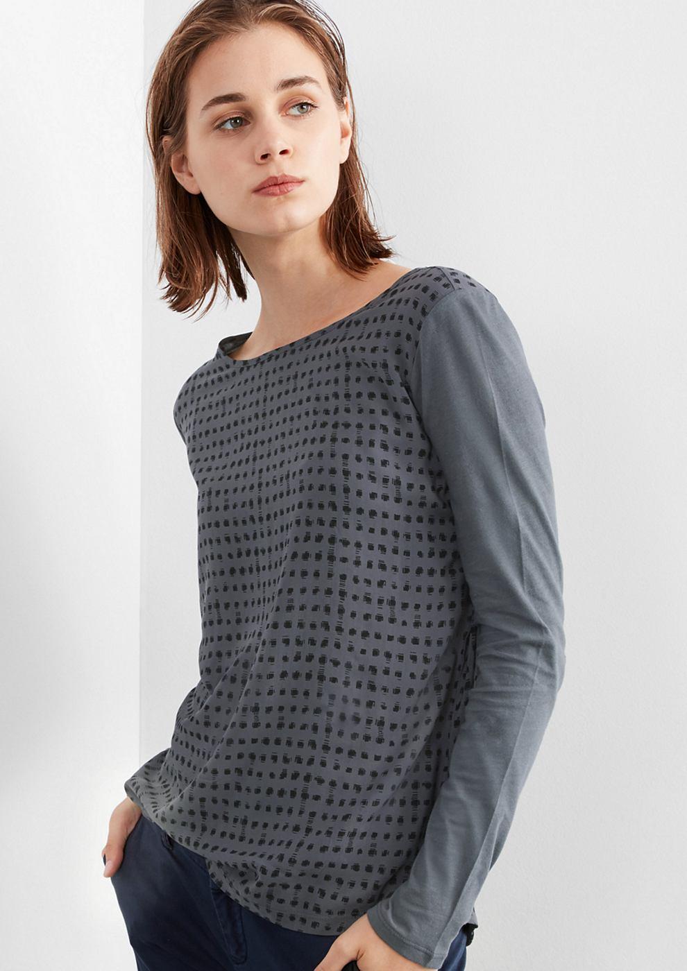Q/S designed by Blouseachtig shirt met grafisch motief