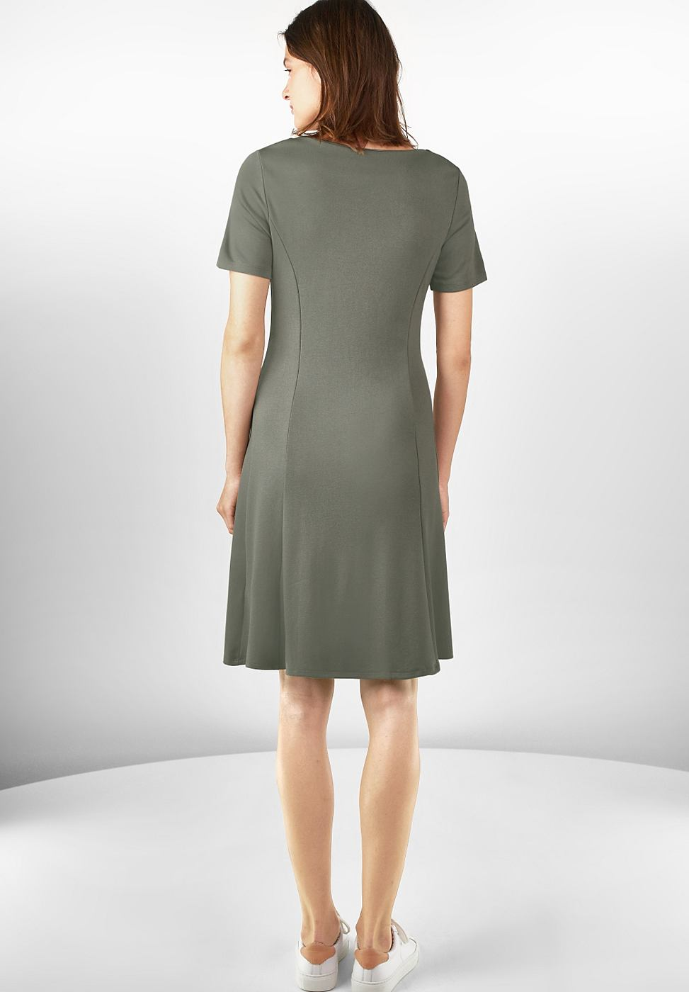 Street One Zachte jersey jurk Eva groen