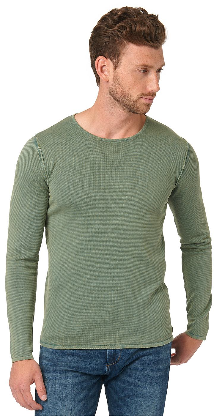 TOM TAILOR Trui »washed crew-neck sweater«