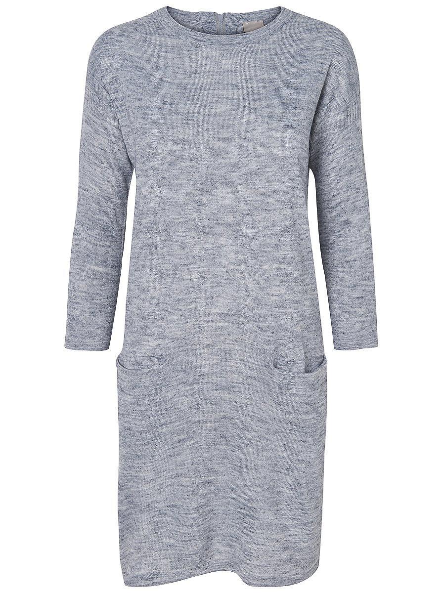 Vero Moda gebreide Korte jurk grijs