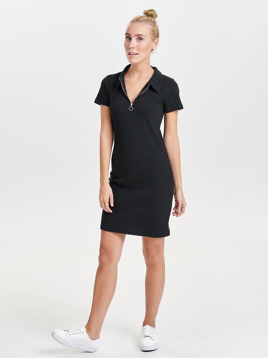 ONLY Polo Korte jurk zwart