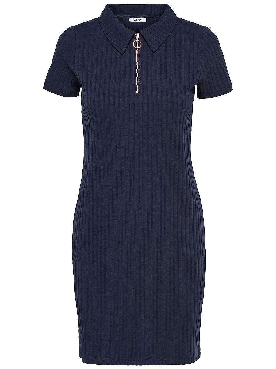 ONLY Polo Korte jurk blauw