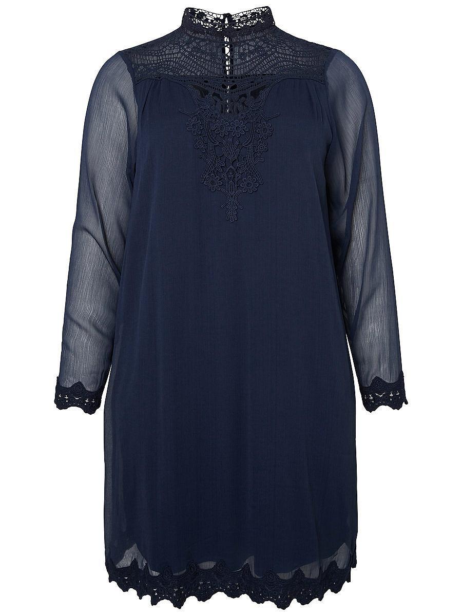 Junarose Lange mouw jurk blauw