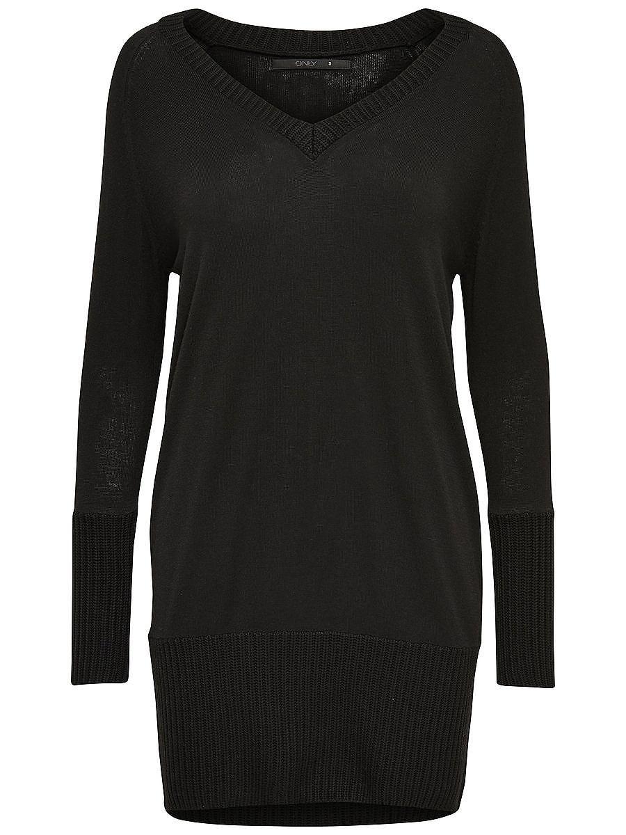 ONLY Ruimvallend gebreide jurk zwart