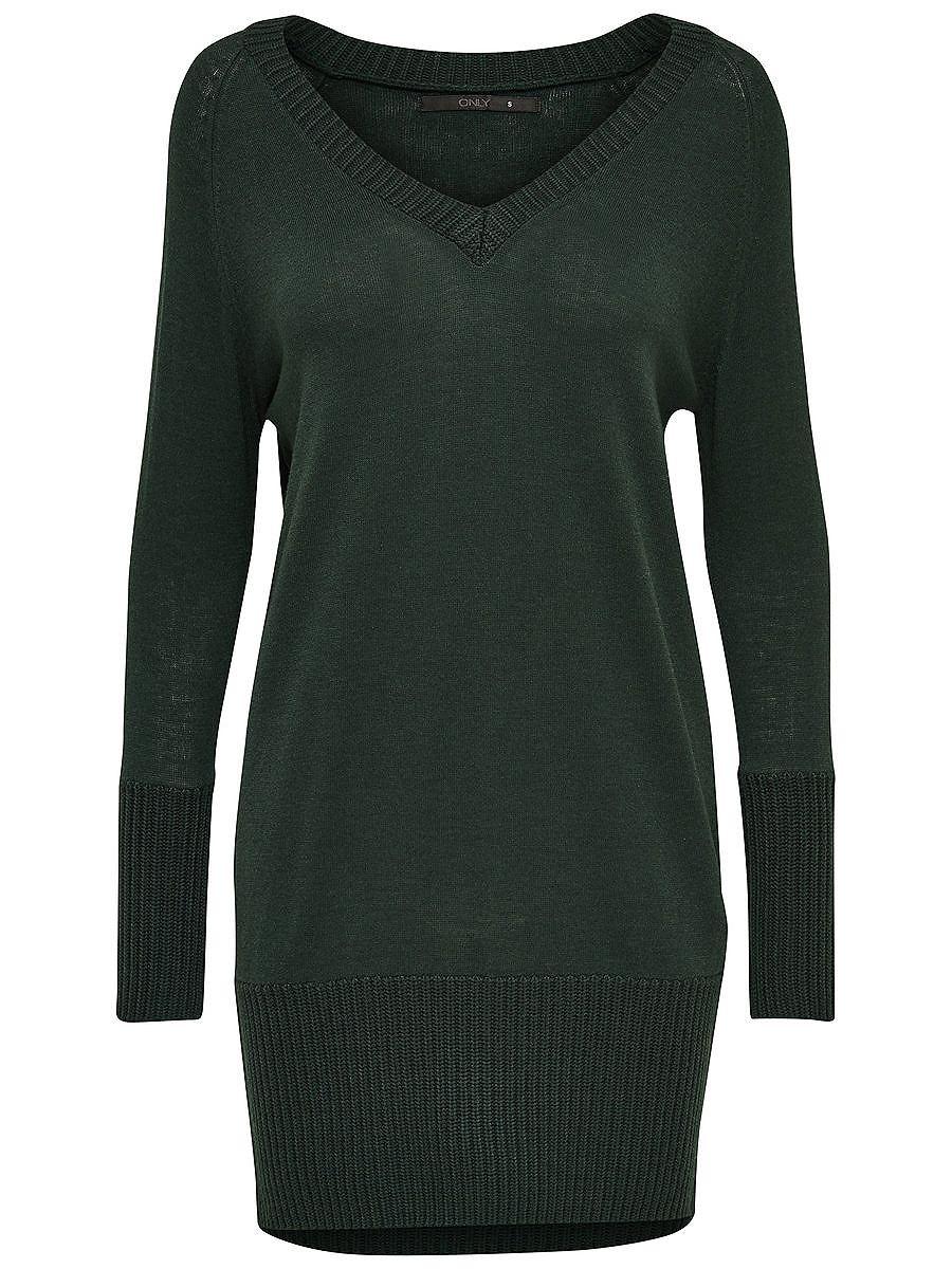 ONLY Ruimvallend gebreide jurk groen