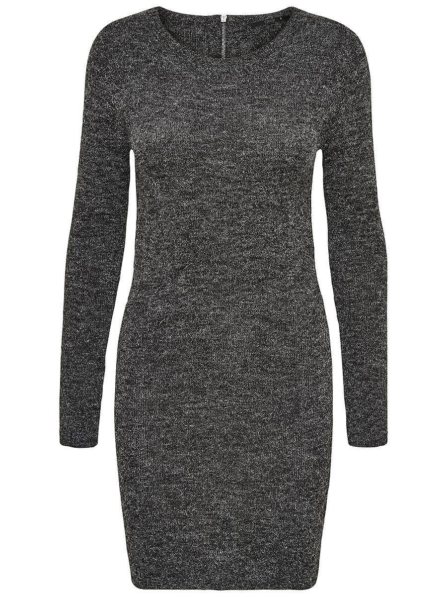 ONLY Rits gebreide jurk grijs