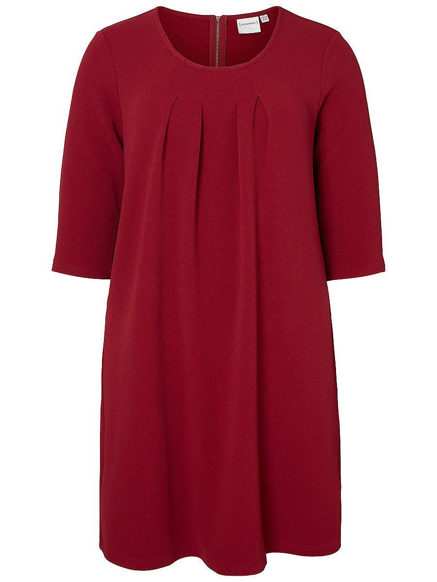 Junarose 3/4 mouw jurk rood