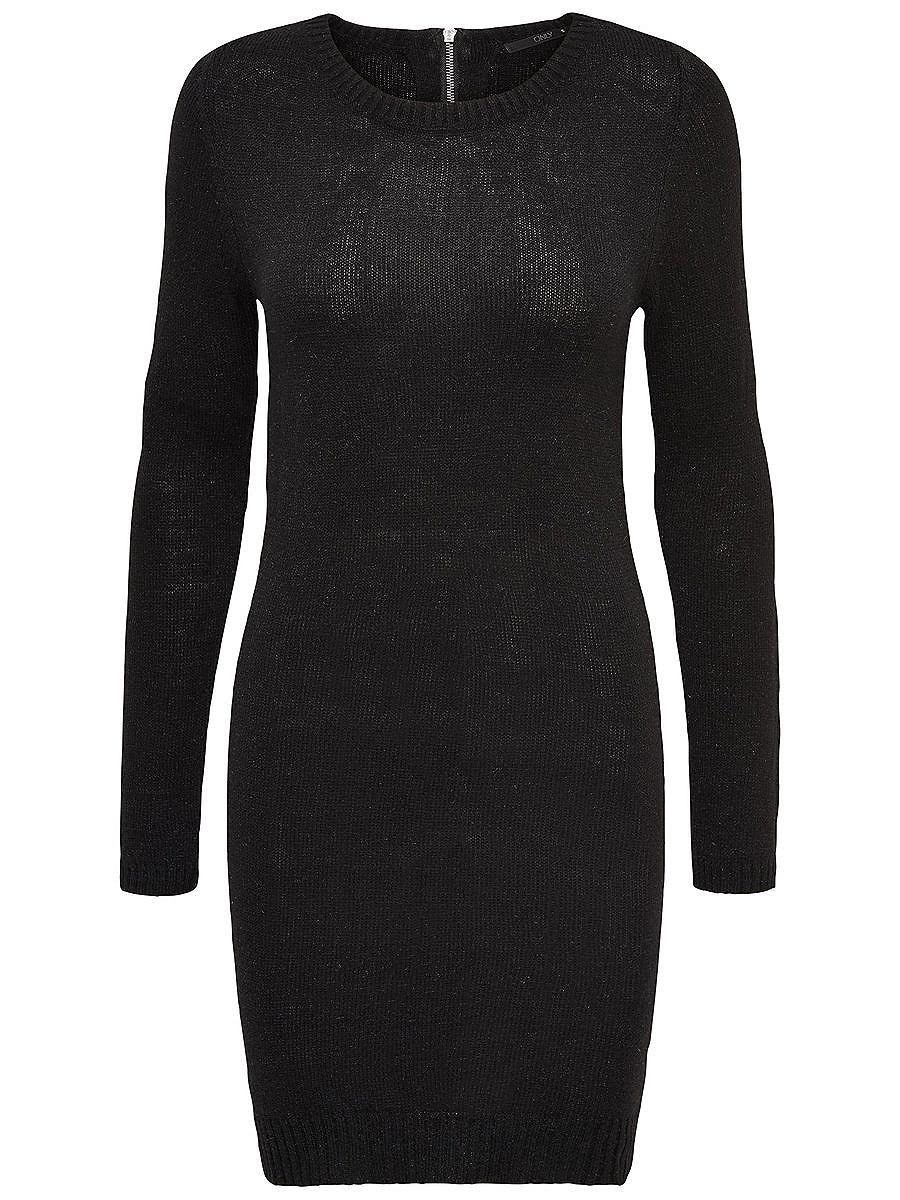 ONLY Rits gebreide jurk zwart