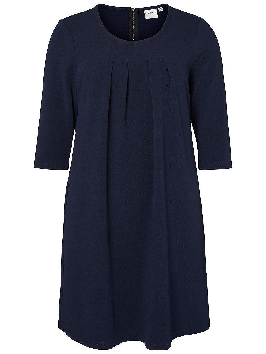 Junarose 3/4 mouw jurk blauw