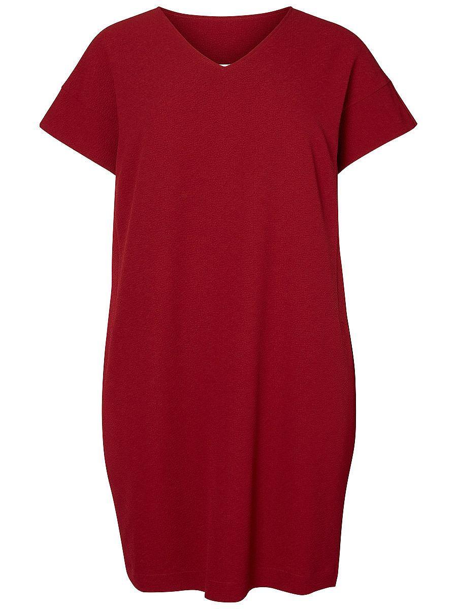 Junarose Korte mouw jurk rood