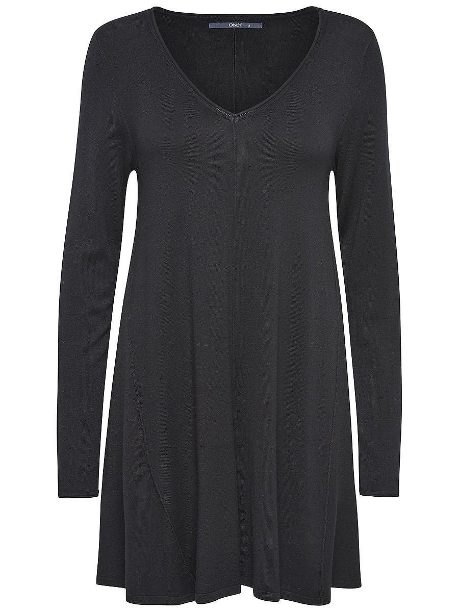 ONLY Ruimvallende gebreide jurk zwart
