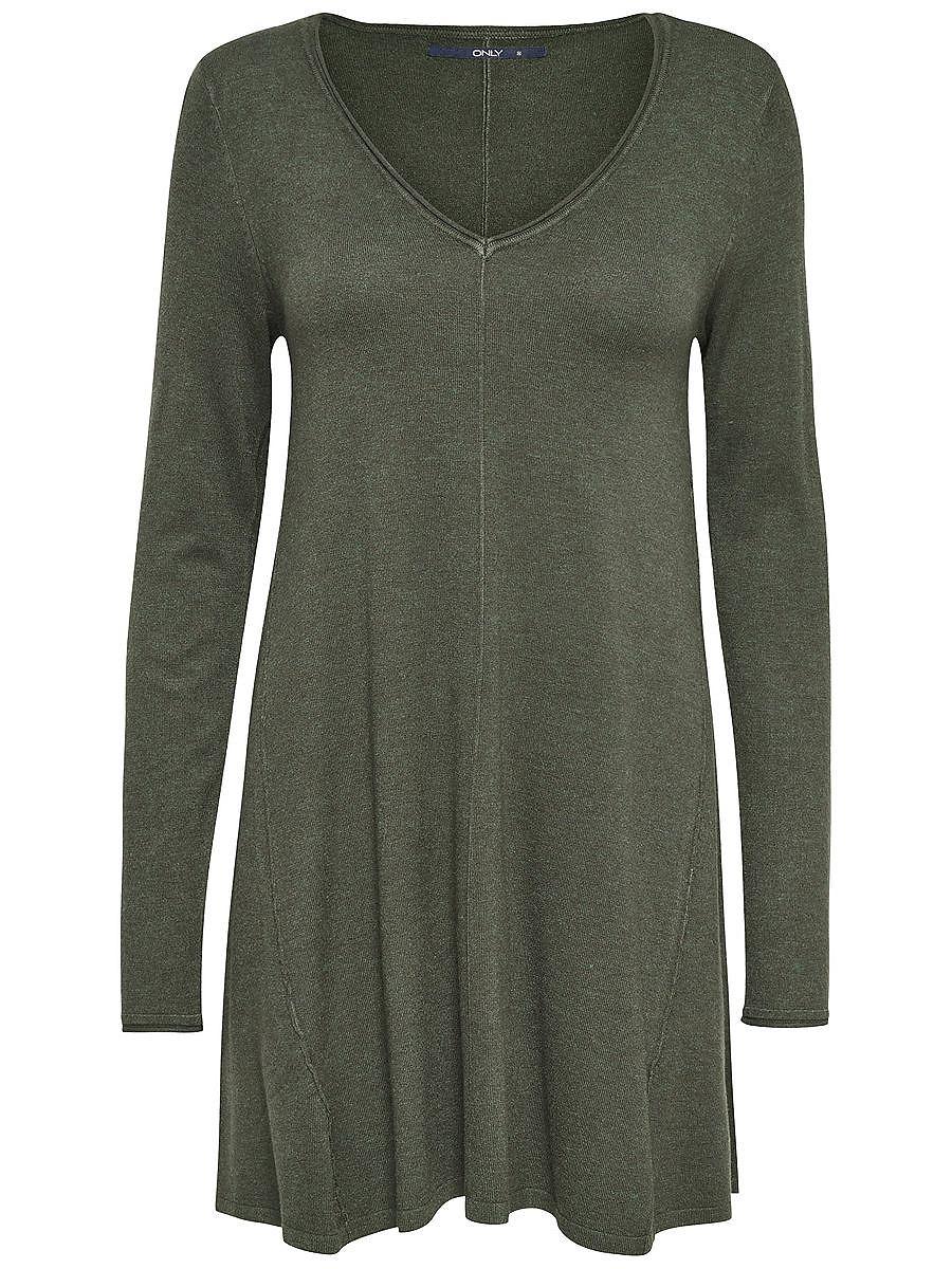 ONLY Ruimvallende gebreide jurk groen