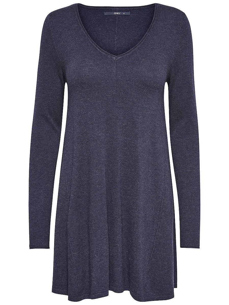 ONLY Ruimvallende gebreide jurk blauw