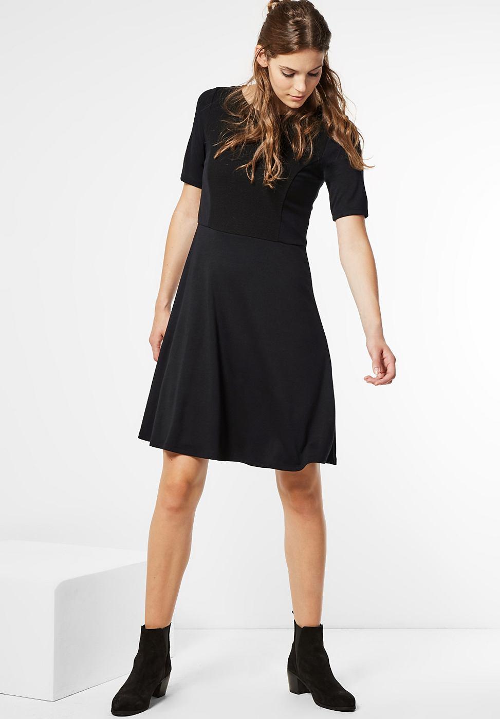 Street One jersey jurk Jacey zwart