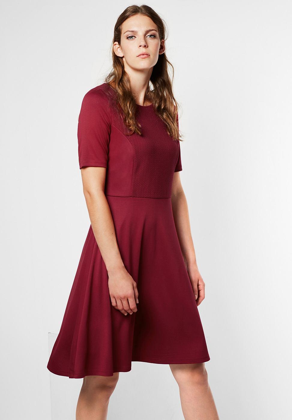 Street One jersey jurk Jacey rood