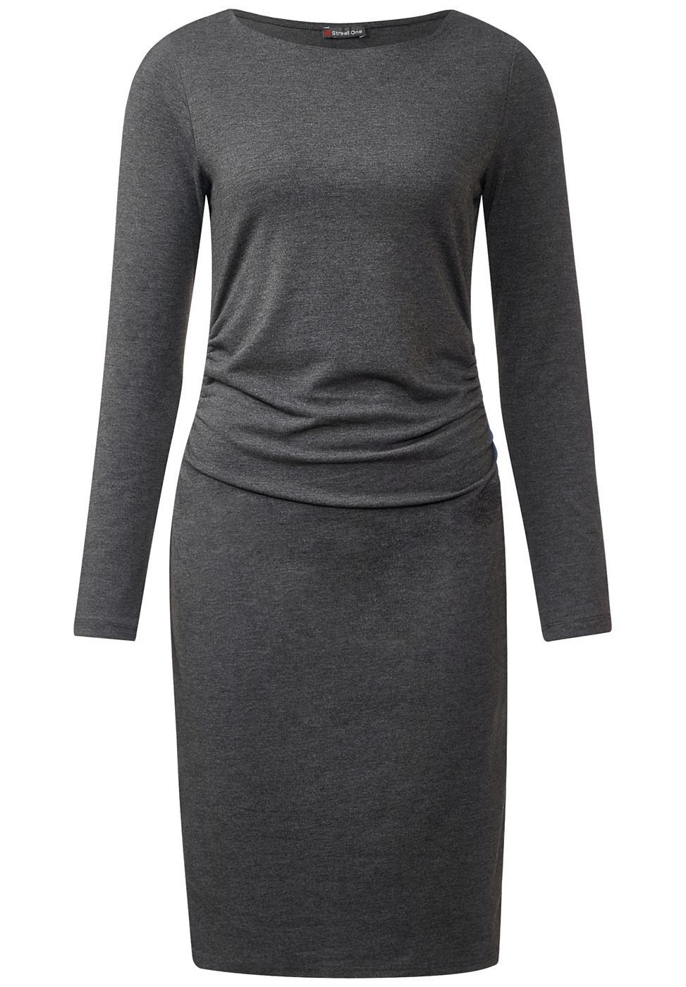 Street One jersey jurk Ivy grijs