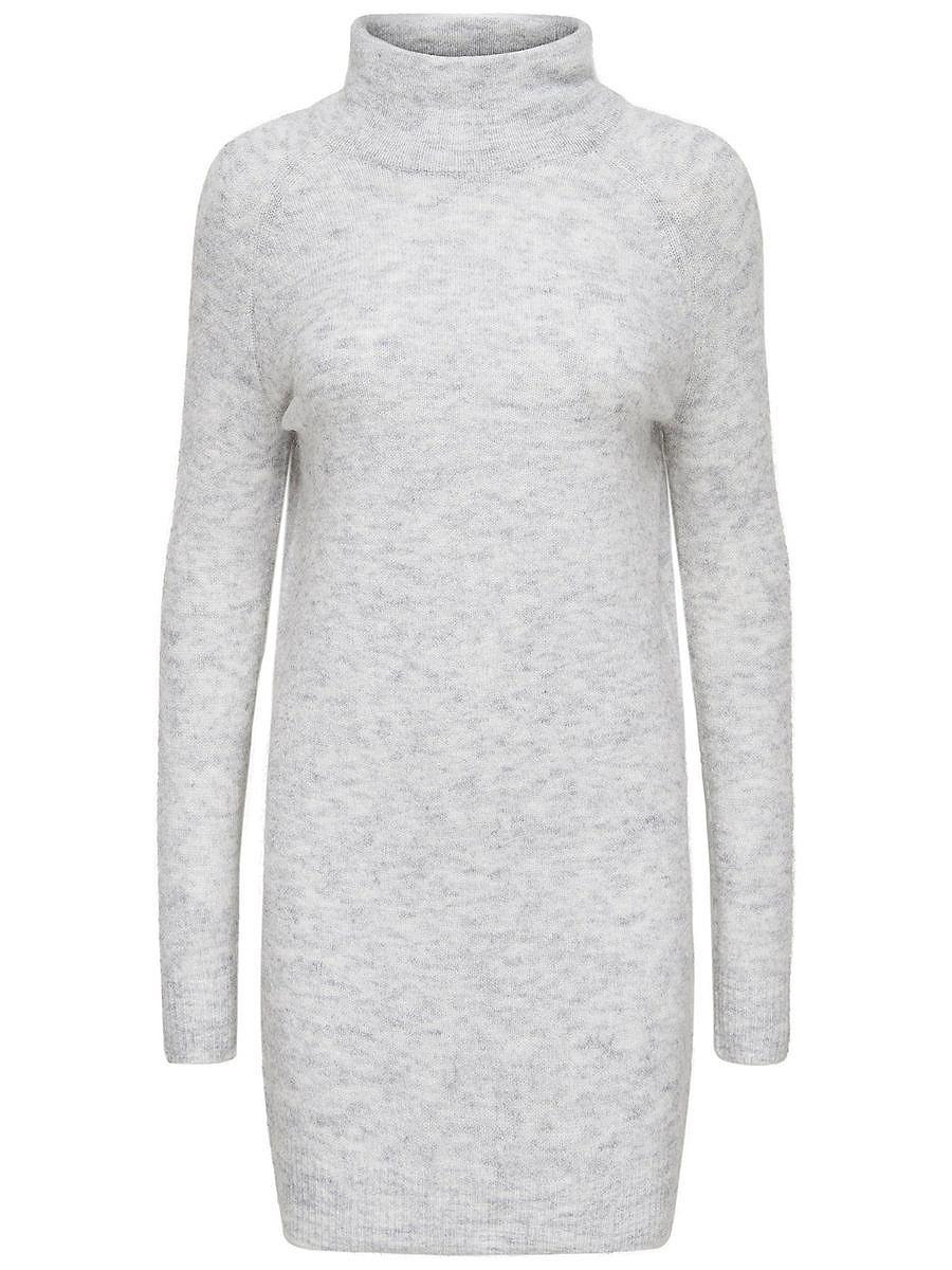 ONLY High-neck gebreide jurk wit
