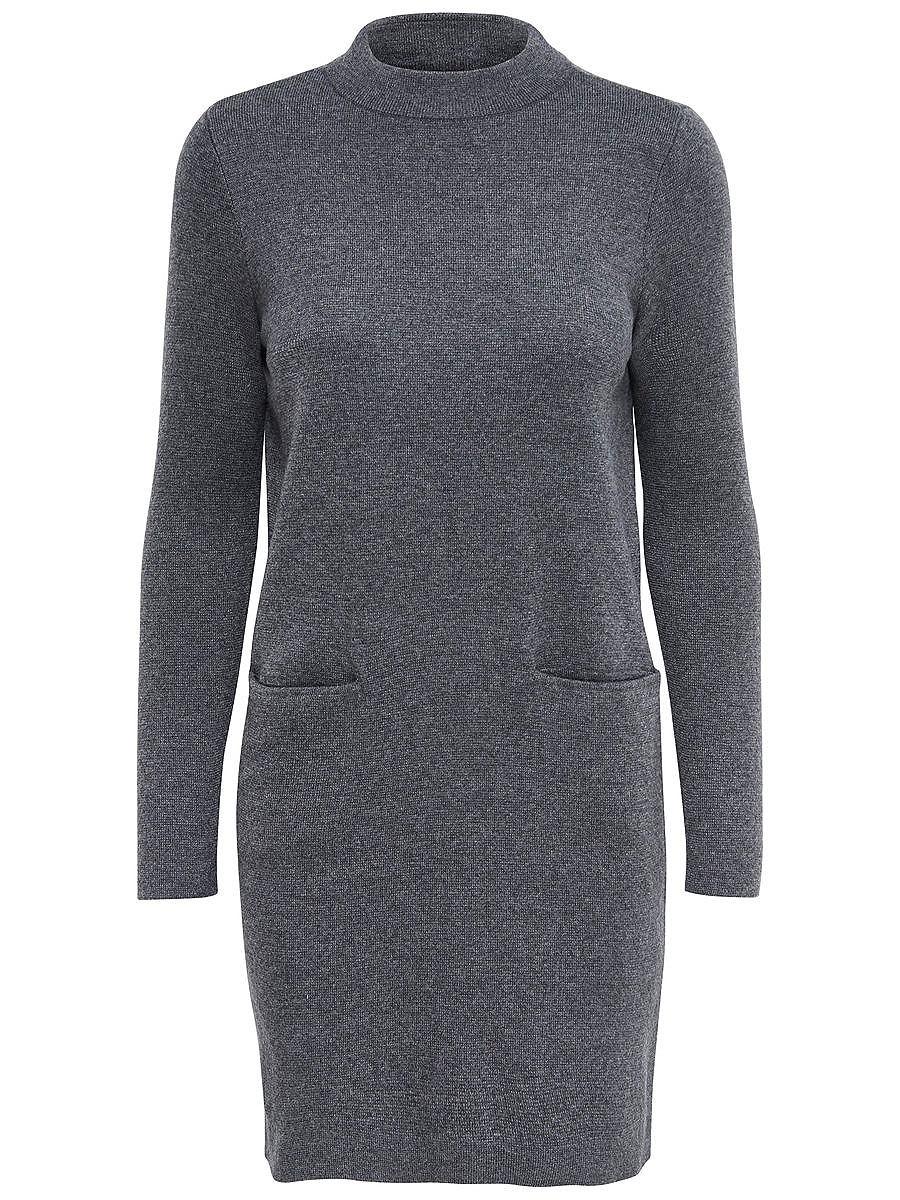ONLY Ruimvallende gebreide jurk grijs