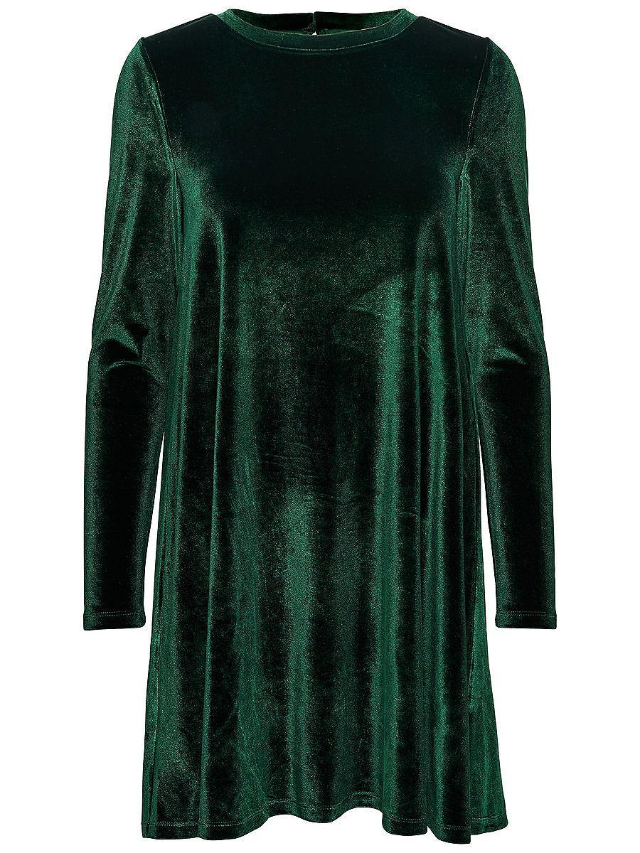 ONLY Ruimvallende jurk met lange mouwen groen