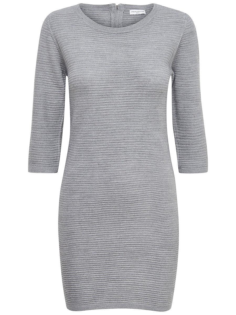 ONLY Rits jurk grijs