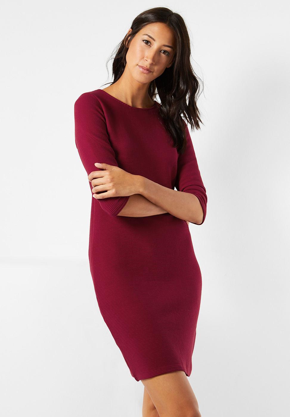 Street One jurk met structuur Ilia rood