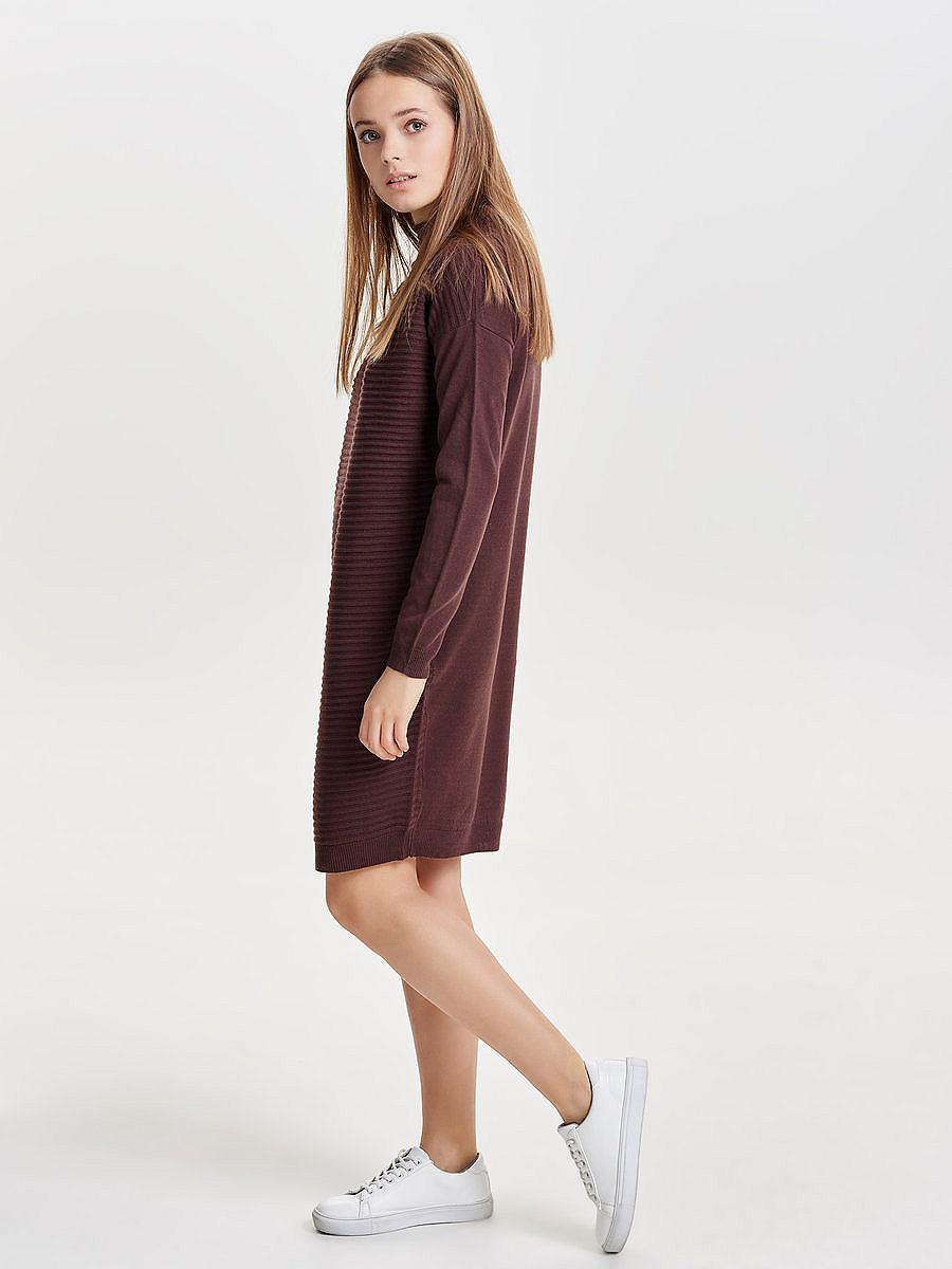 ONLY Lange mouw gebreide jurk multicolor