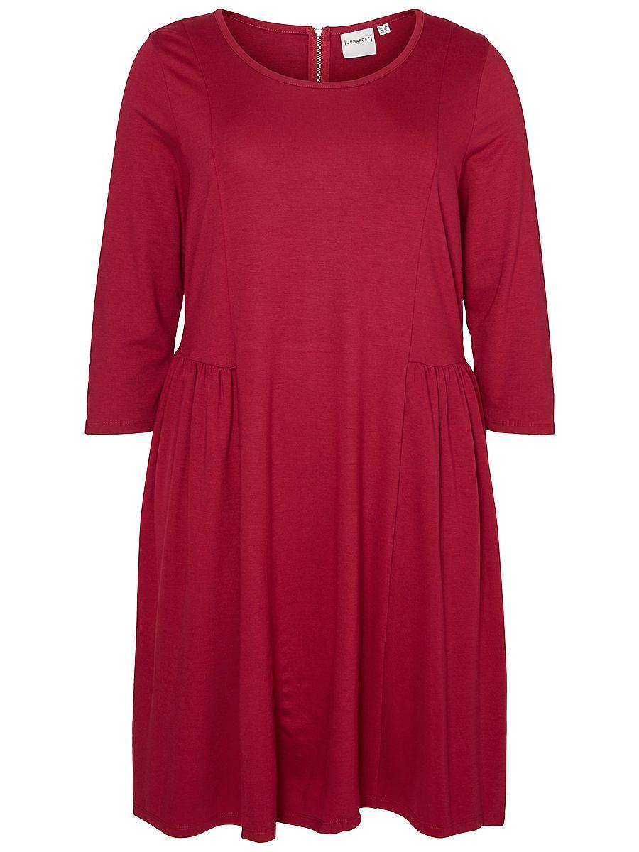 Junarose 3/4-mouw jurk rood