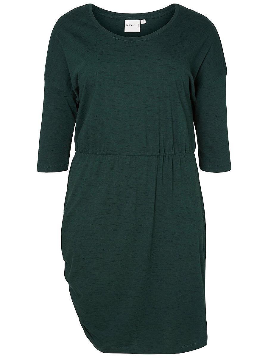 Junarose 3/4-mouw jurk groen