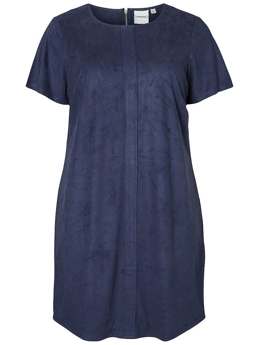 Junarose Korte mouw jurk blauw