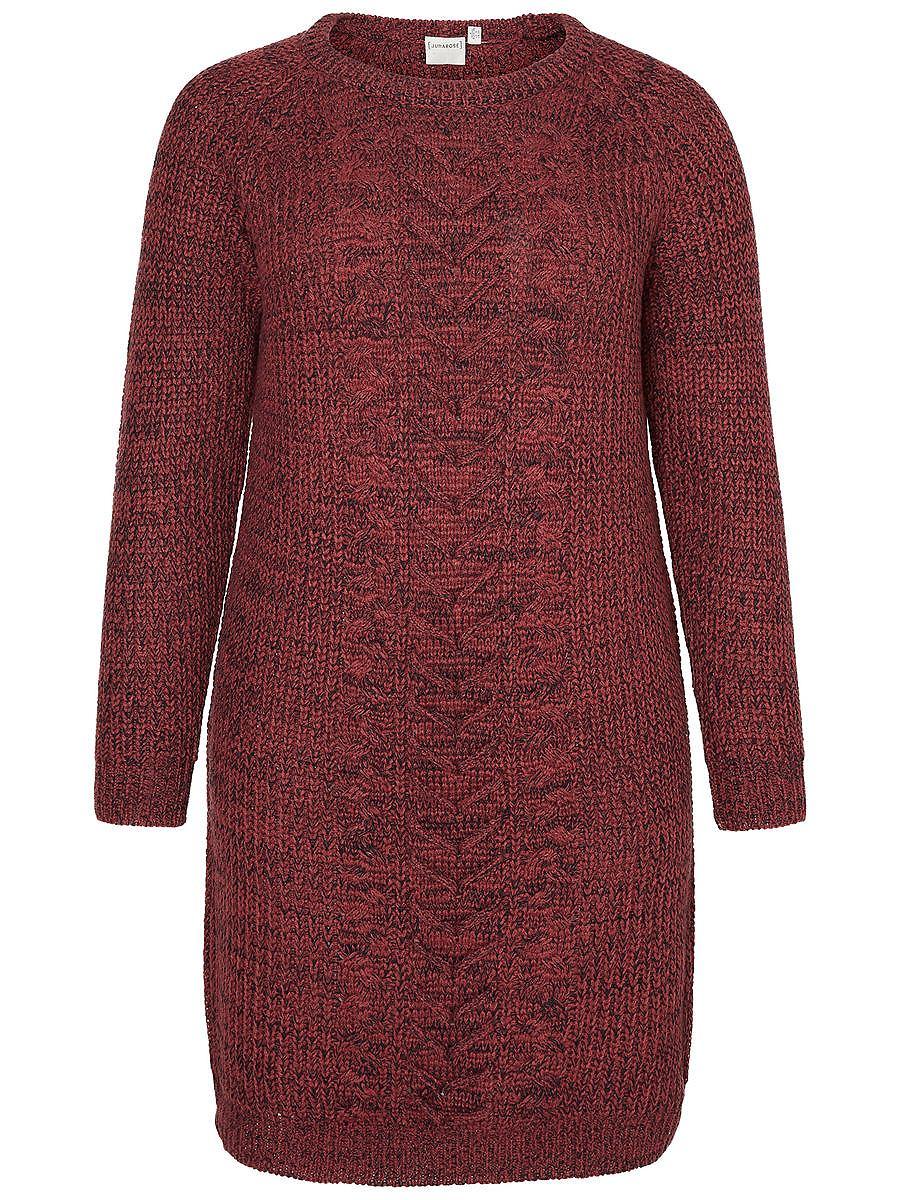 Junarose gebreide jurk rood