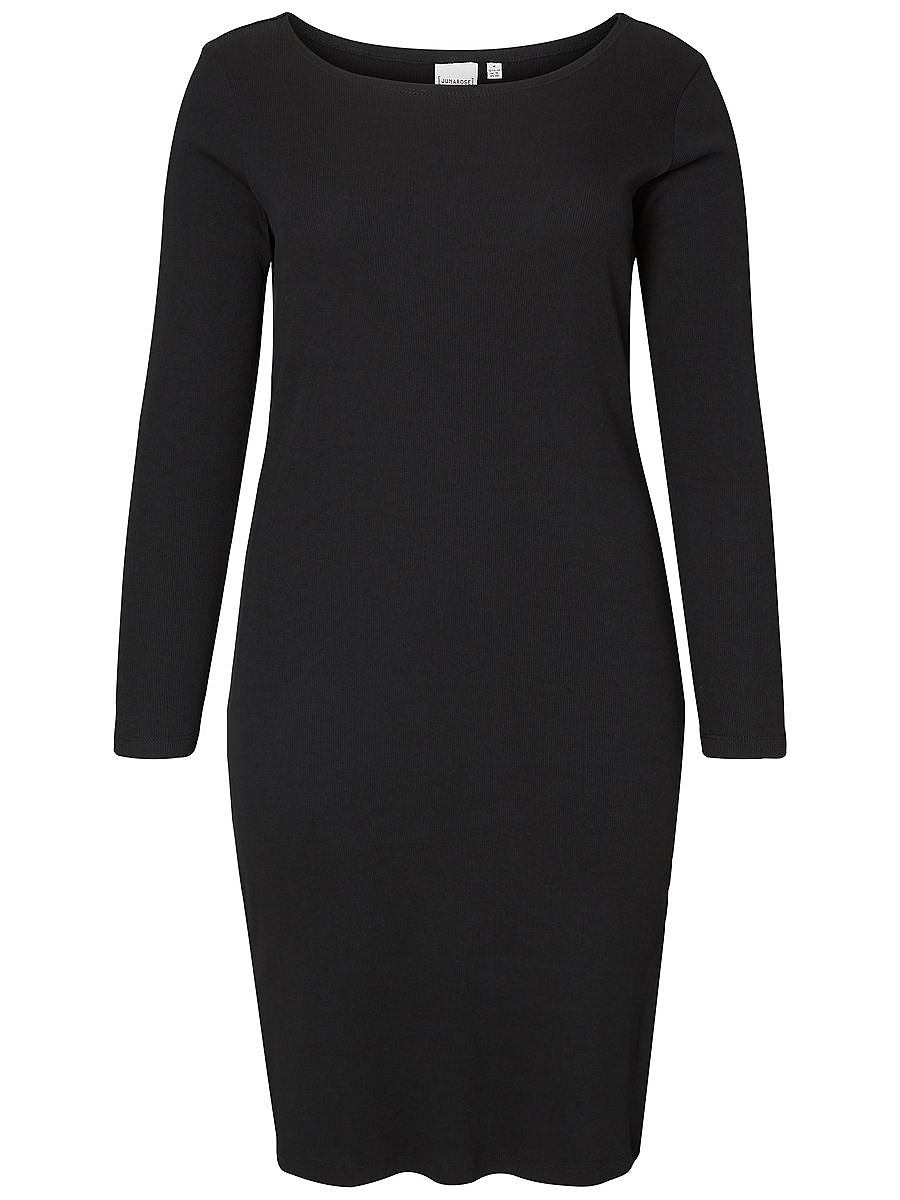 Junarose Rib jurk zwart