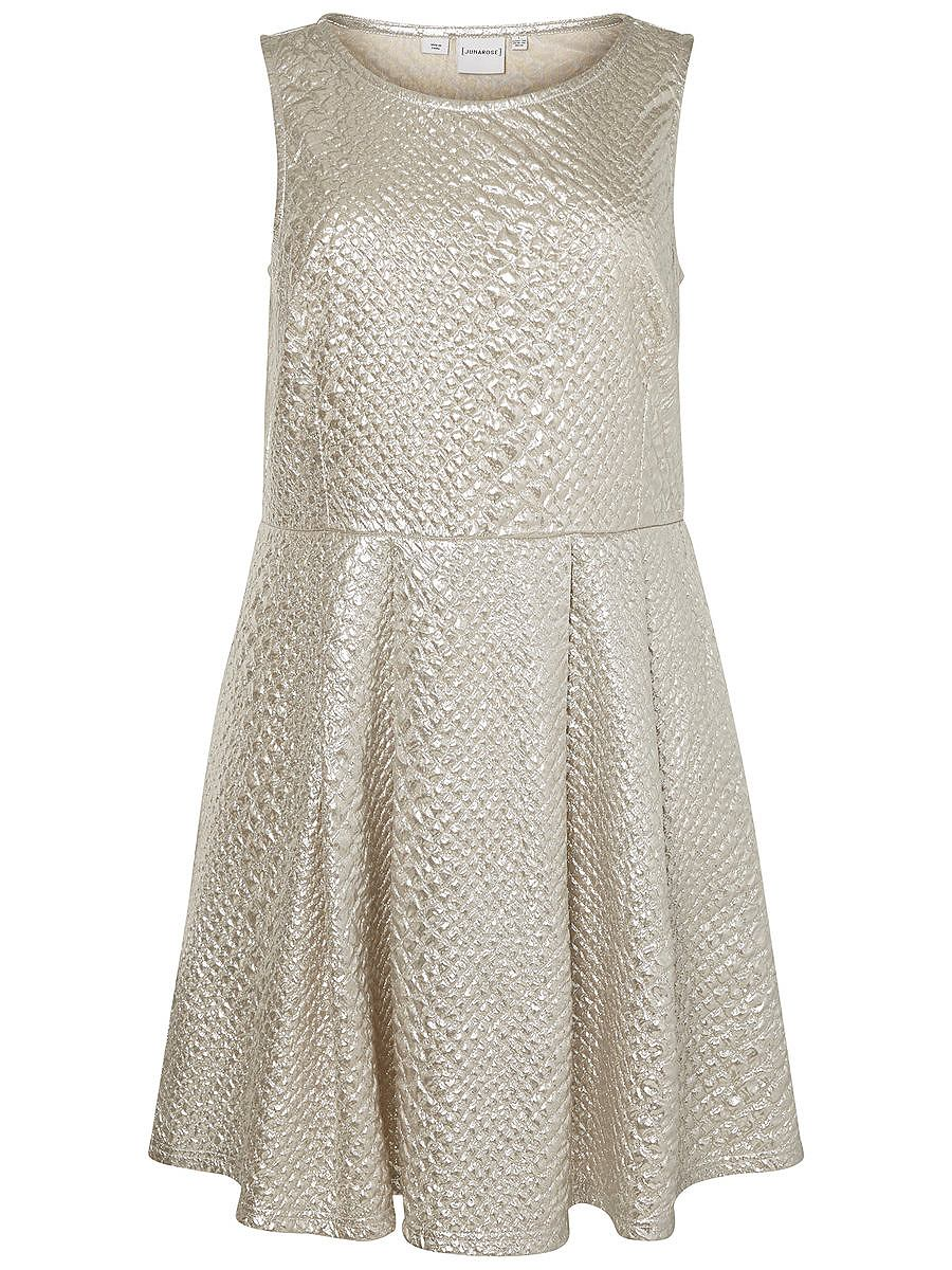 Junarose Mouwloze jurk zilver