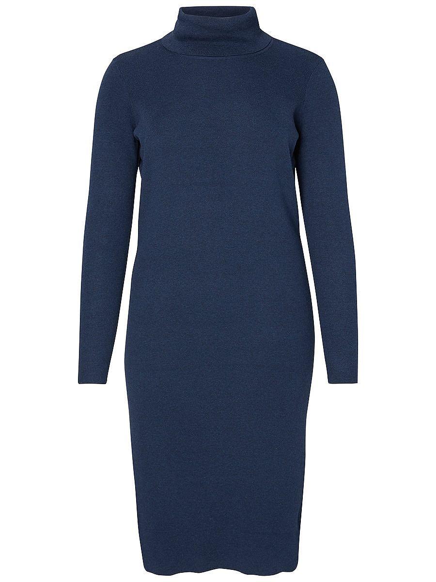 Junarose gebreide jurk blauw