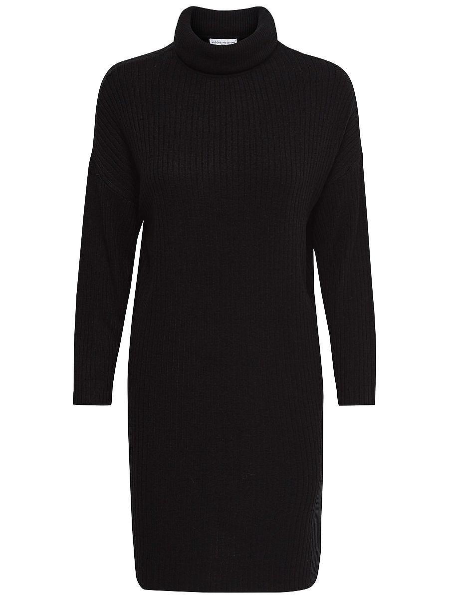 ONLY Hoge kraag gebreide jurk zwart