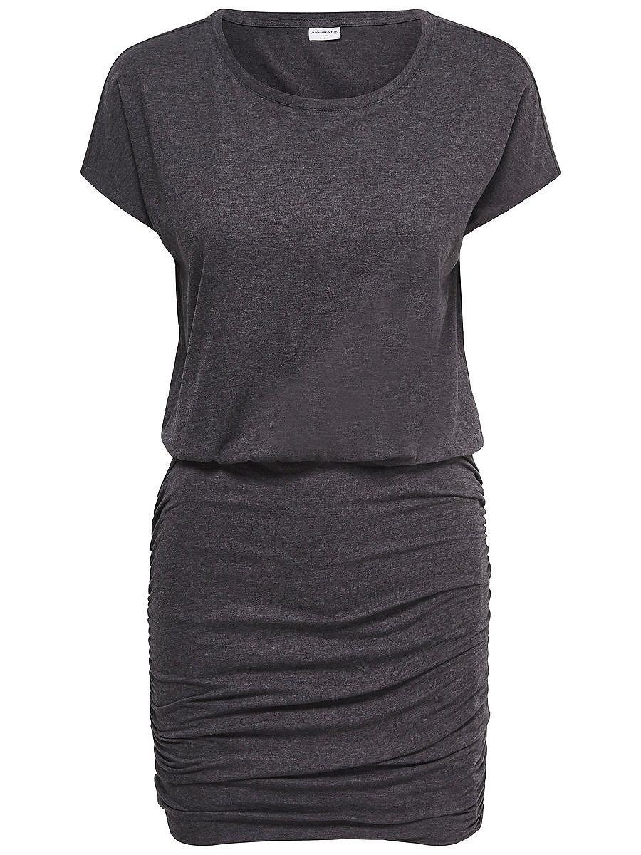 ONLY Effen jurk met korte mouwen grijs