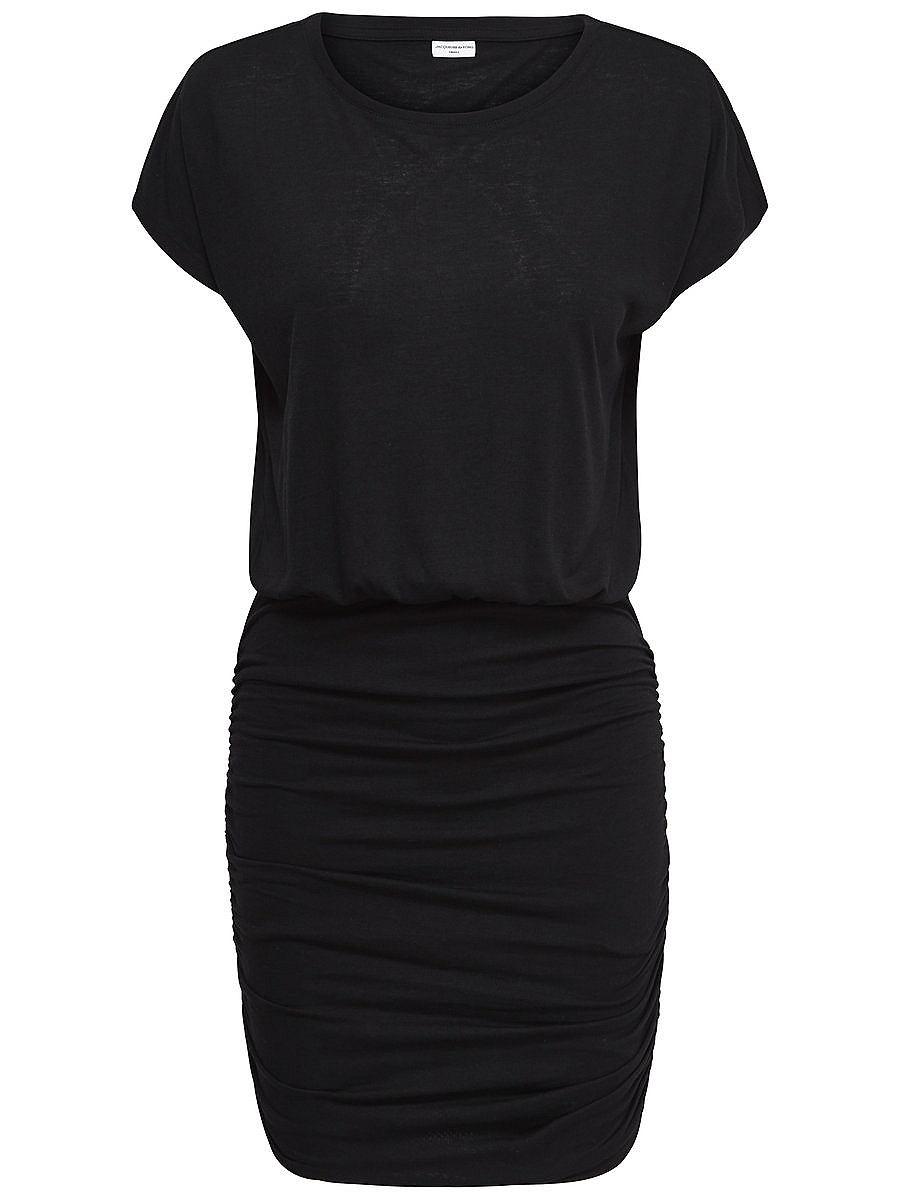 ONLY Effen jurk met korte mouwen zwart
