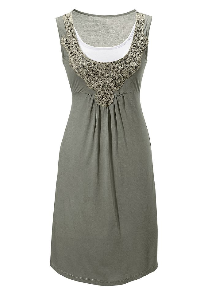 jurk Aniston groen