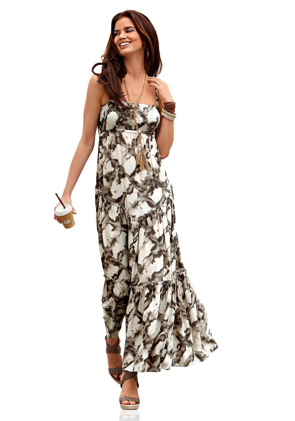 Maxi-jurk van Laura Scott bruin