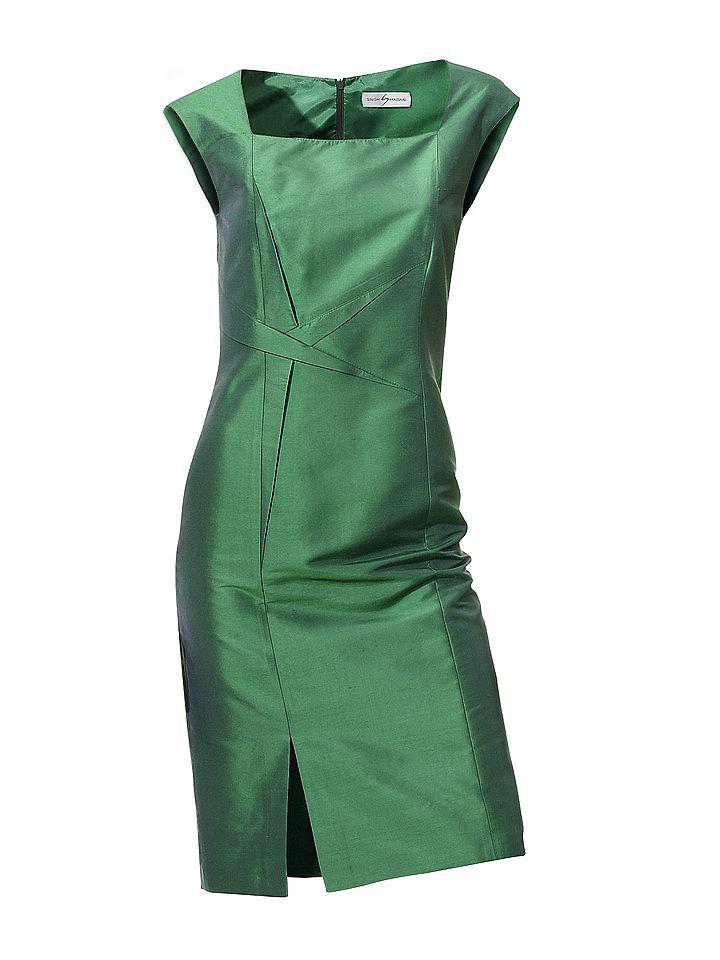 Zijden jurk groen
