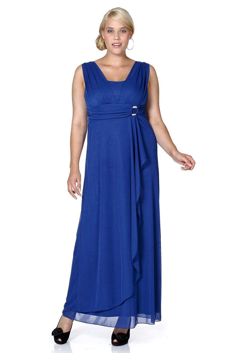 M.I.M jurk in gala-look blauw