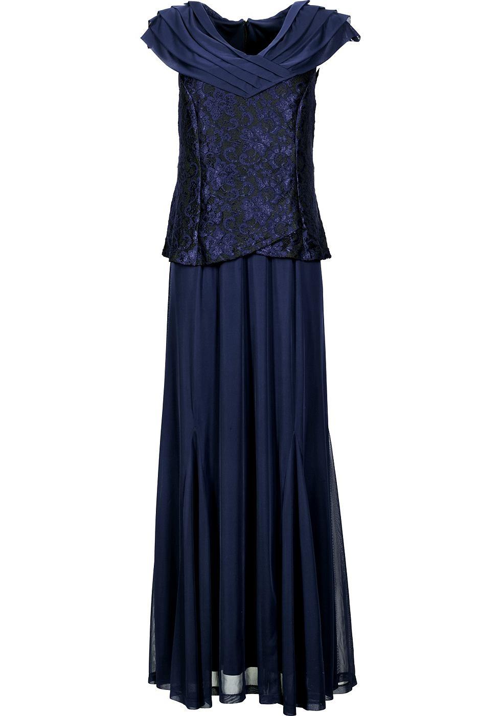 M.I.M jurk met sjaalkraag blauw
